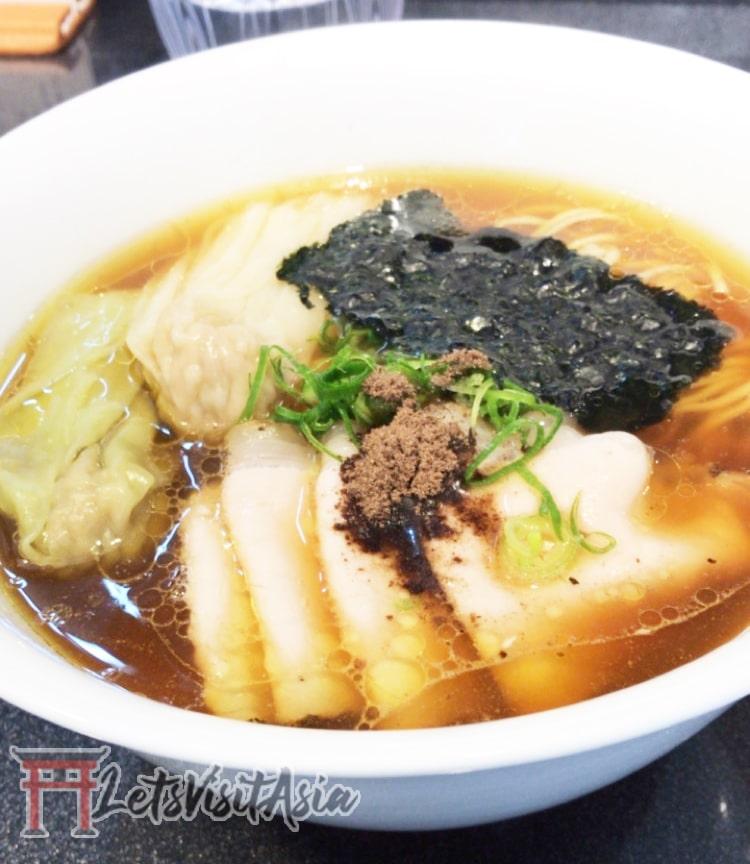 A bowl of ramen at Tsuta in Tokyo