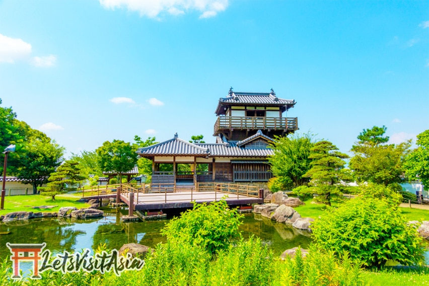 The Ikeda Castle Site Park that is near the cup noodle museum in Osaka