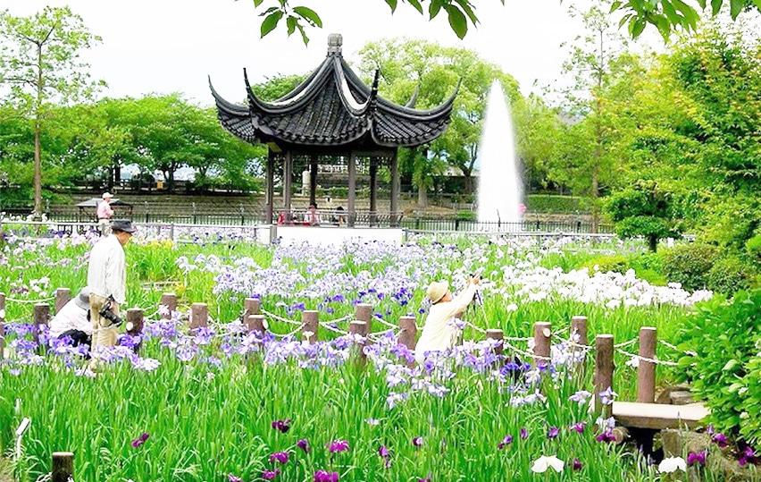 Suigetsu Park in Ikeda, Osaka