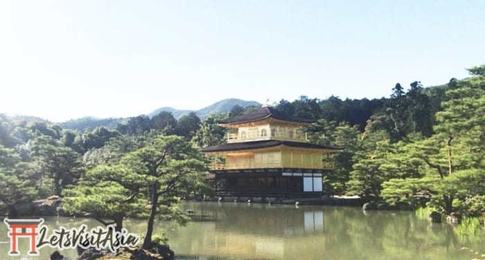 An original photo of the golden temple in Kyoto taken during a walking tour