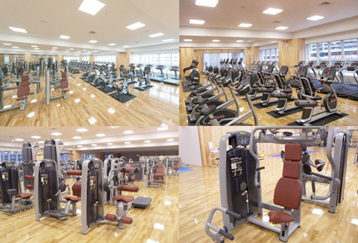 Images of the Minato Sports Center tourist friendly gym in Tokyo