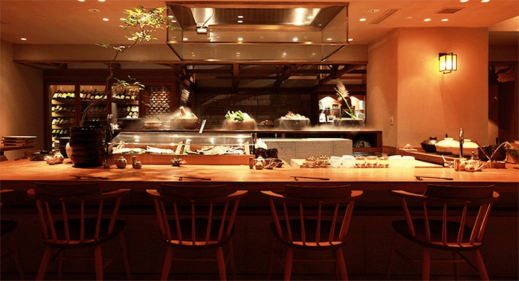 The interior to one of the best shabu shabu restaurants in Tokyo called Yasai-Ya Mei