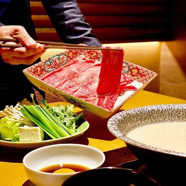 One of the best shabu shabu restaurants in Tokyo called Momo Paradise